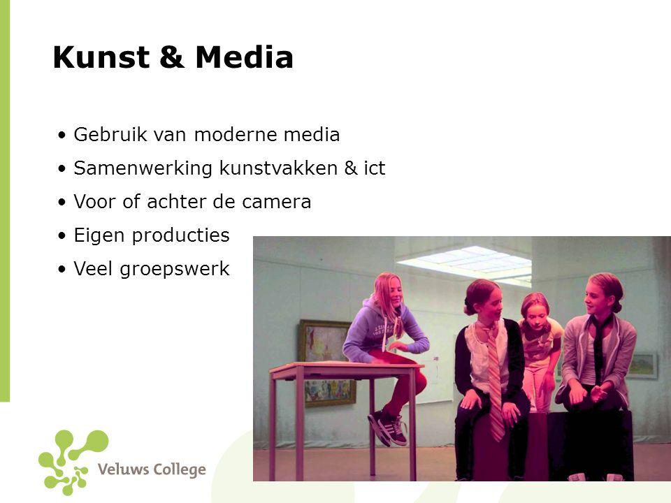 Kunst & Media Gebruik van moderne media Samenwerking kunstvakken & ict