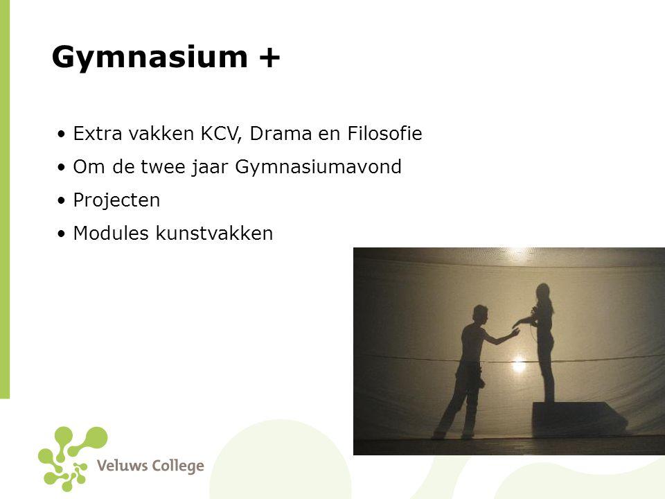 Gymnasium + Extra vakken KCV, Drama en Filosofie