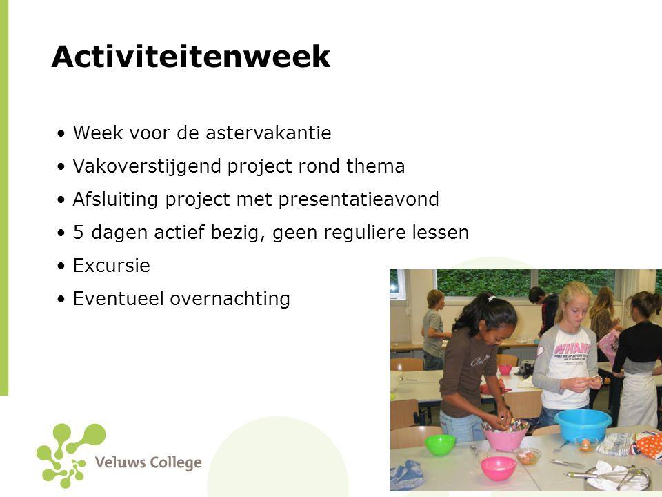 Activiteitenweek Week voor de astervakantie
