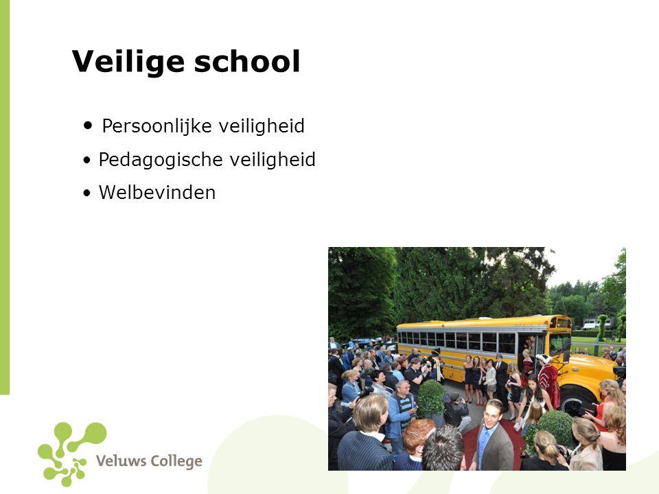 Veilige school Persoonlijke veiligheid Pedagogische veiligheid