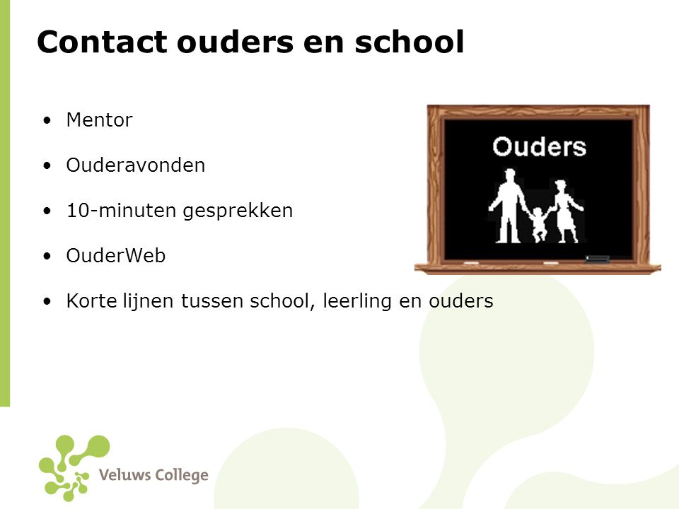 Contact ouders en school
