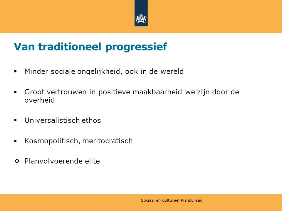 Van traditioneel progressief