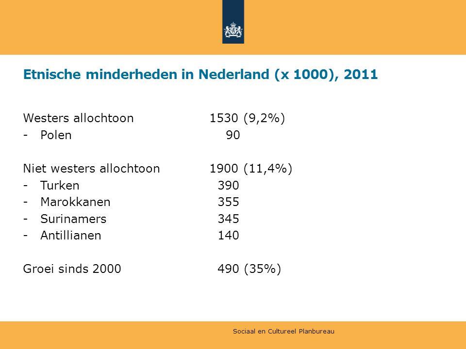Etnische minderheden in Nederland (x 1000), 2011