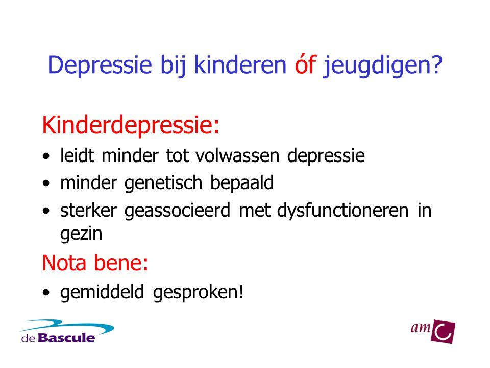Depressie bij kinderen óf jeugdigen
