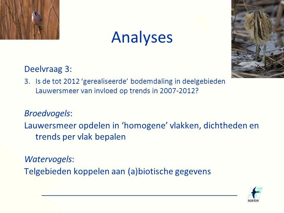Analyses Deelvraag 3: Broedvogels: