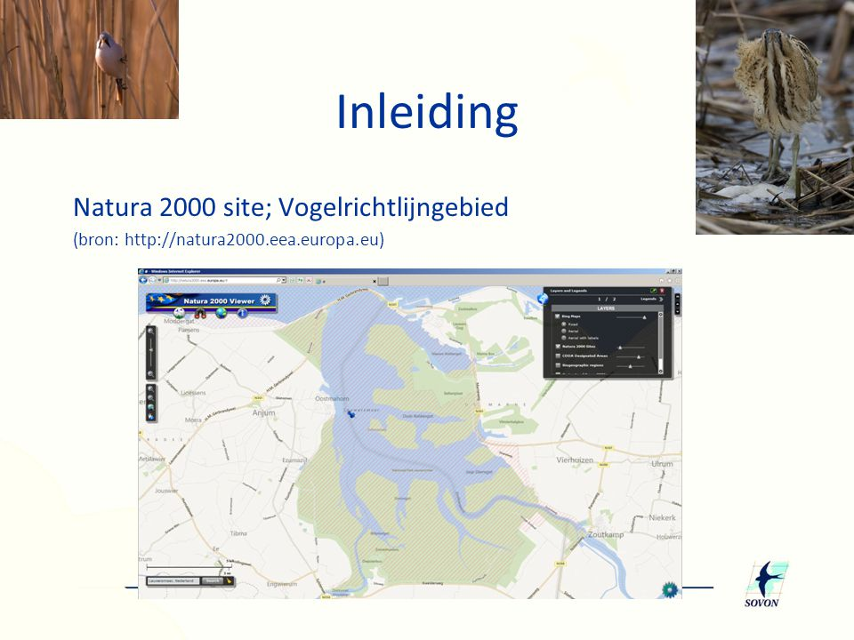 Inleiding Natura 2000 site; Vogelrichtlijngebied