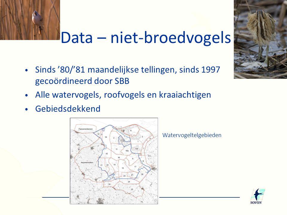 Data – niet-broedvogels