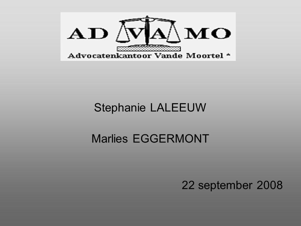 Stephanie LALEEUW Marlies EGGERMONT 22 september 2008