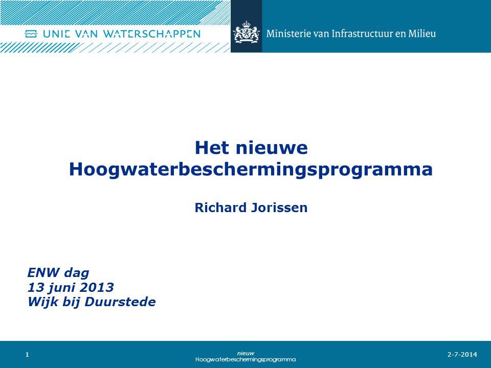 Het nieuwe Hoogwaterbeschermingsprogramma Richard Jorissen
