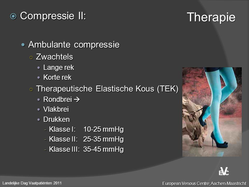 Therapie V Compressie II: Ambulante compressie Zwachtels