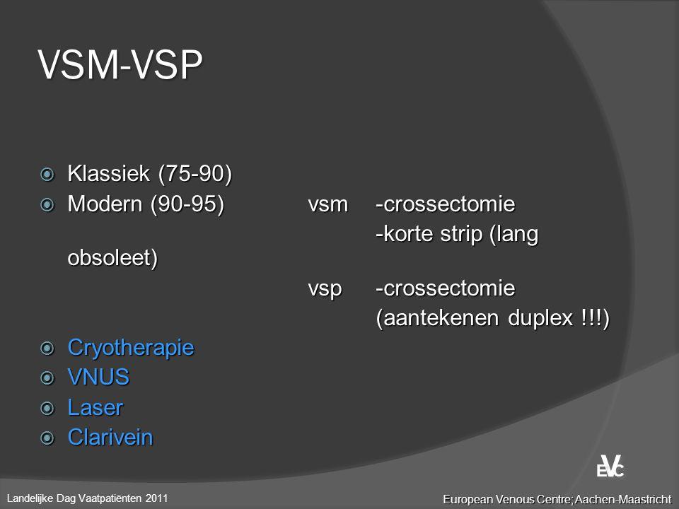 VSM-VSP V Klassiek (75-90) Modern (90-95) vsm -crossectomie