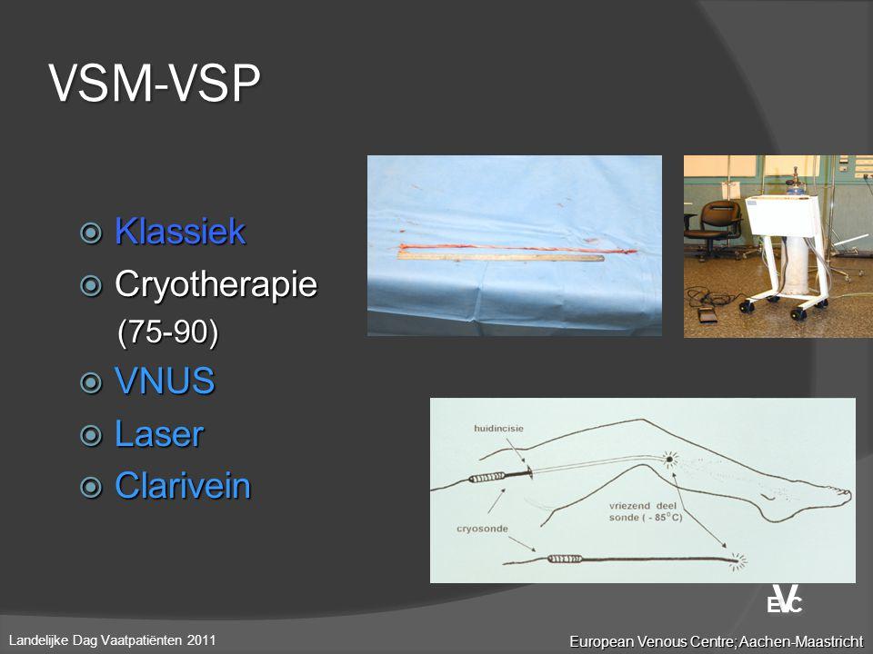 VSM-VSP V Klassiek Cryotherapie VNUS Laser Clarivein (75-90) E C