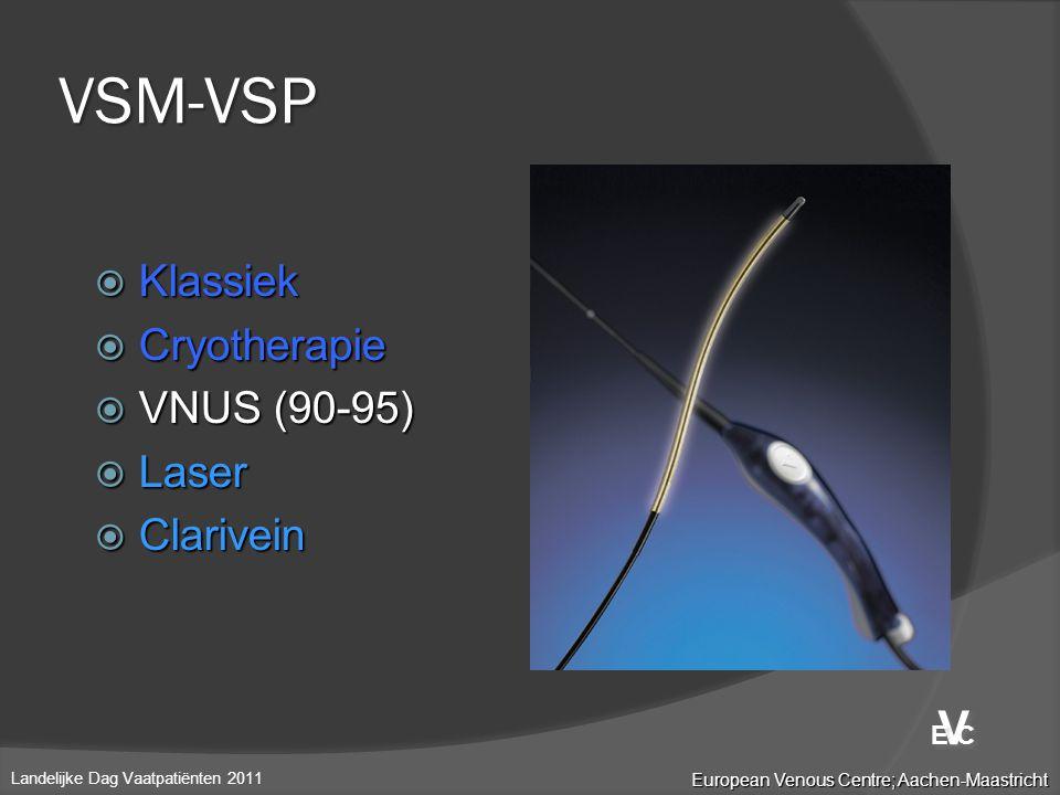 VSM-VSP V Klassiek Cryotherapie VNUS (90-95) Laser Clarivein E C