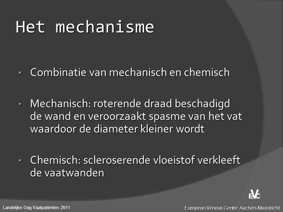 Het mechanisme V Combinatie van mechanisch en chemisch
