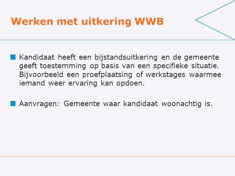 Werken met uitkering WWB