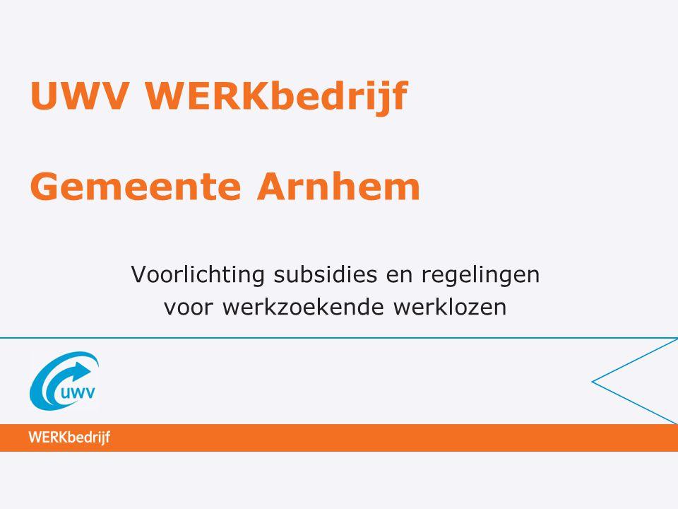 UWV WERKbedrijf Gemeente Arnhem