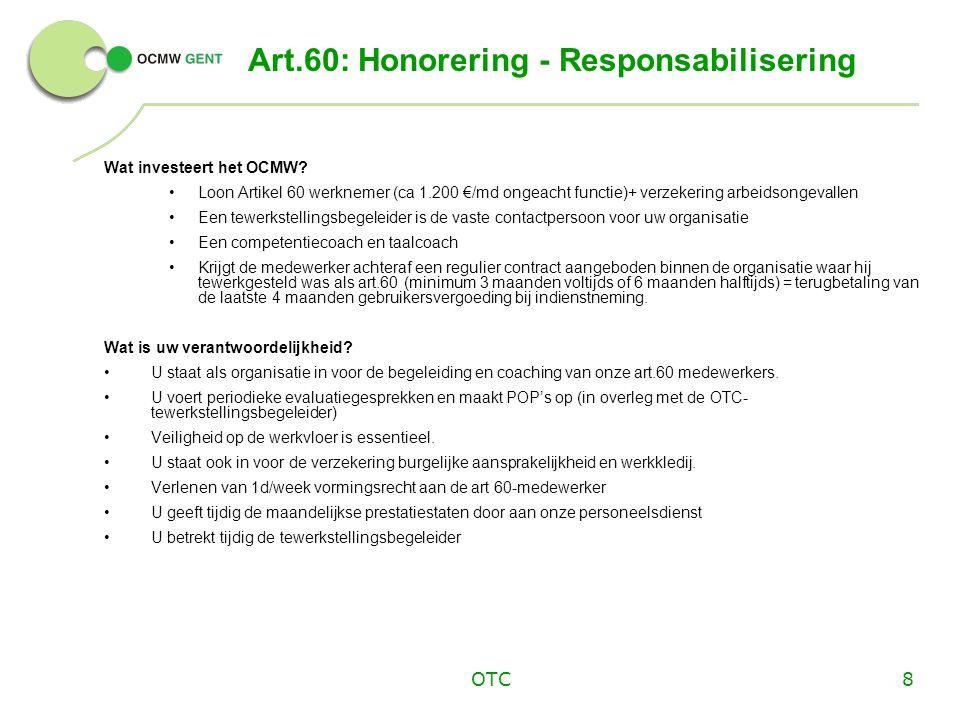 Art.60: Honorering - Responsabilisering