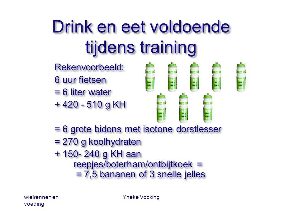 Drink en eet voldoende tijdens training