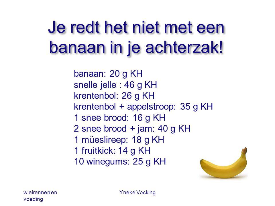 Je redt het niet met een banaan in je achterzak!