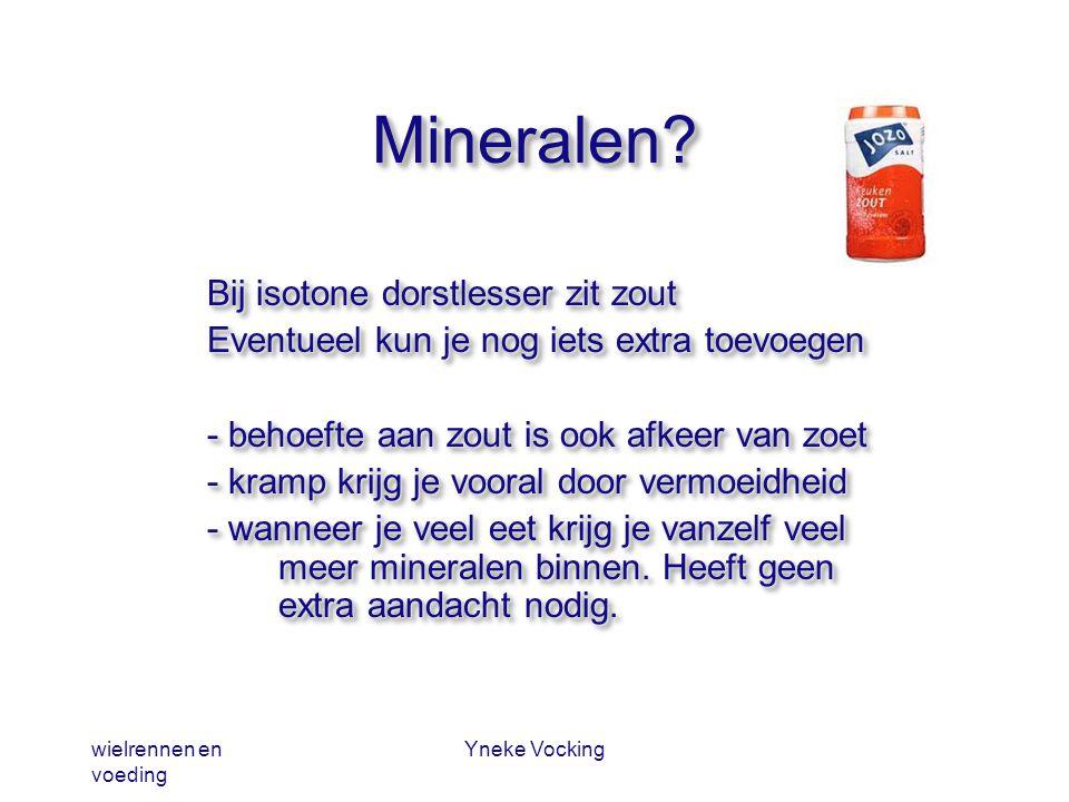 Mineralen Bij isotone dorstlesser zit zout