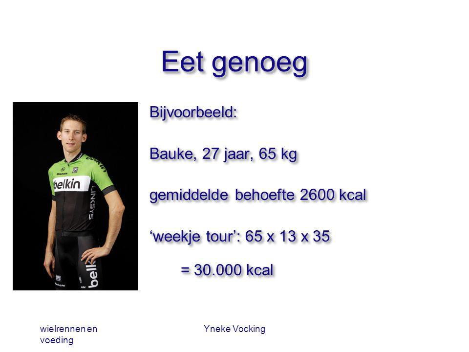 Eet genoeg Bijvoorbeeld: Bauke, 27 jaar, 65 kg