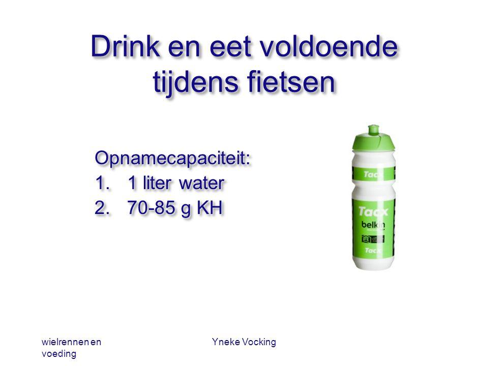 Drink en eet voldoende tijdens fietsen