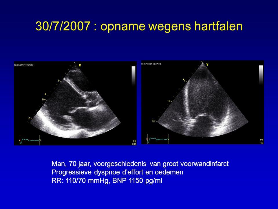 30/7/2007 : opname wegens hartfalen