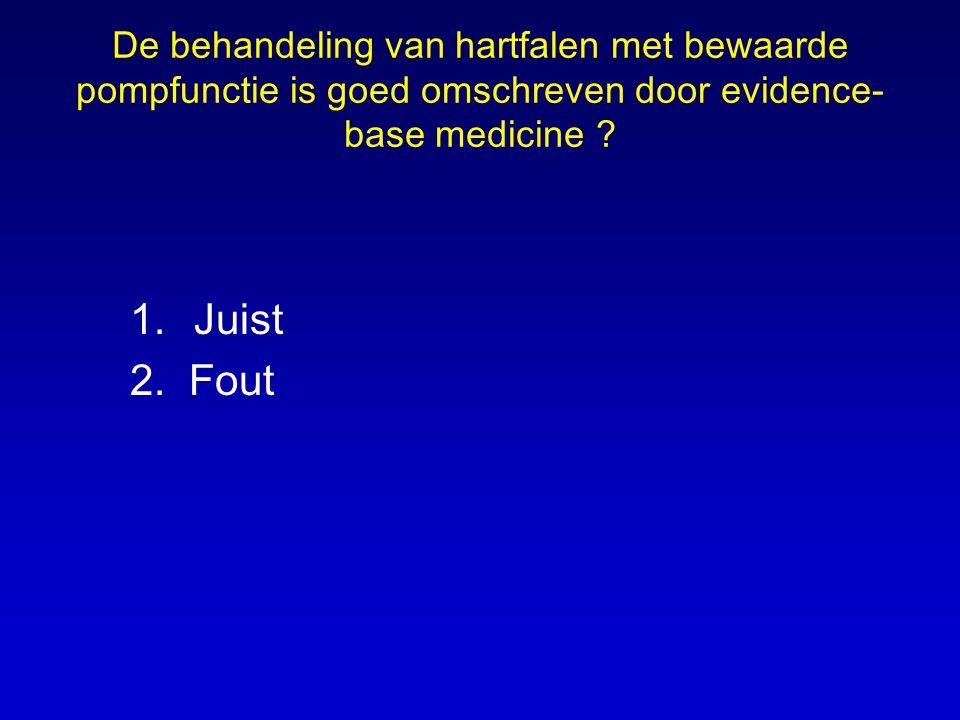 De behandeling van hartfalen met bewaarde pompfunctie is goed omschreven door evidence-base medicine