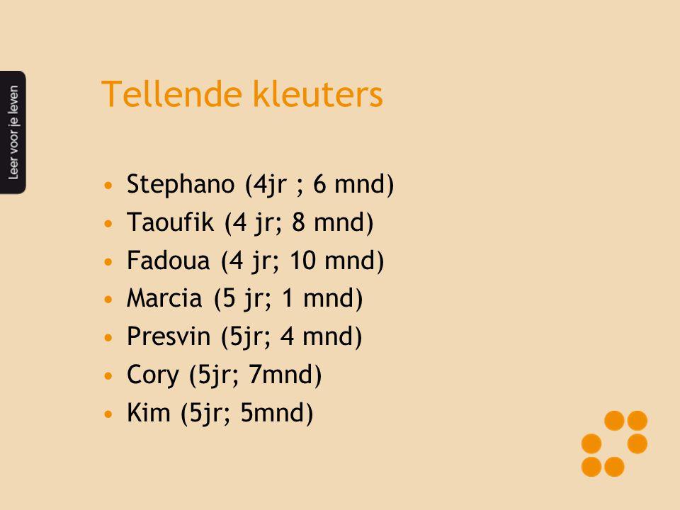 Tellende kleuters Stephano (4jr ; 6 mnd) Taoufik (4 jr; 8 mnd)