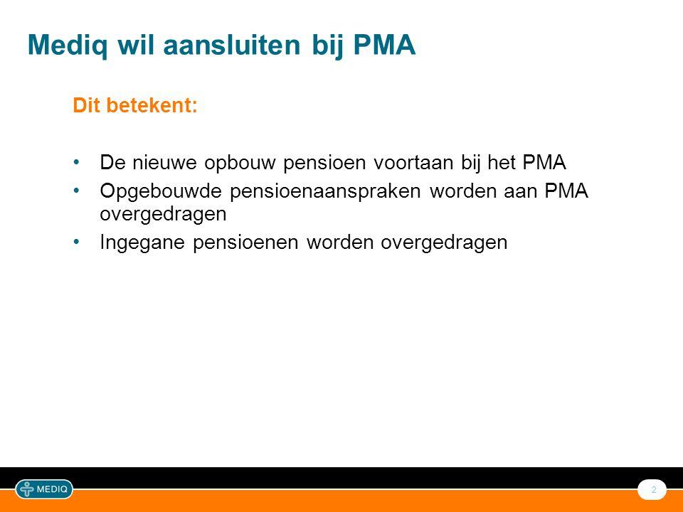 Kenmerken Pensioenfonds Mediq en PMA