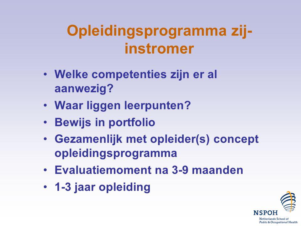 Opleidingsprogramma zij-instromer