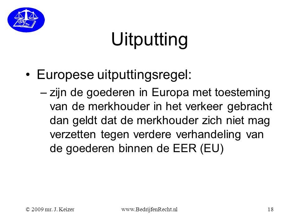 Uitputting Europese uitputtingsregel: