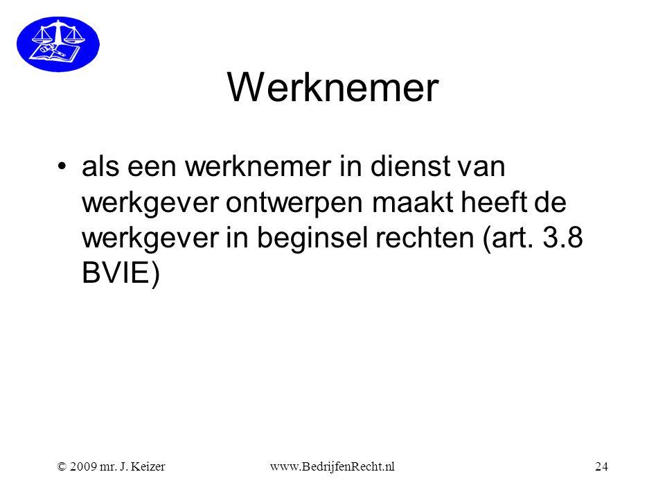 Werknemer als een werknemer in dienst van werkgever ontwerpen maakt heeft de werkgever in beginsel rechten (art. 3.8 BVIE)