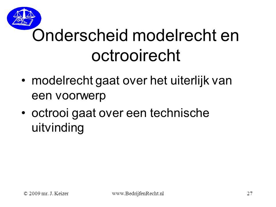 Onderscheid modelrecht en octrooirecht