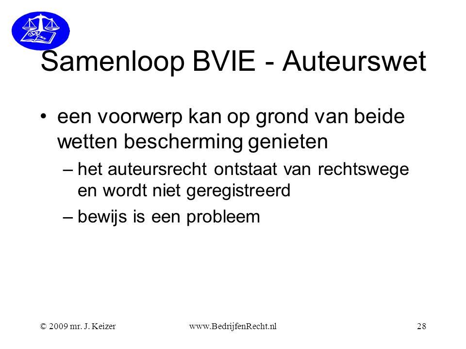 Samenloop BVIE - Auteurswet