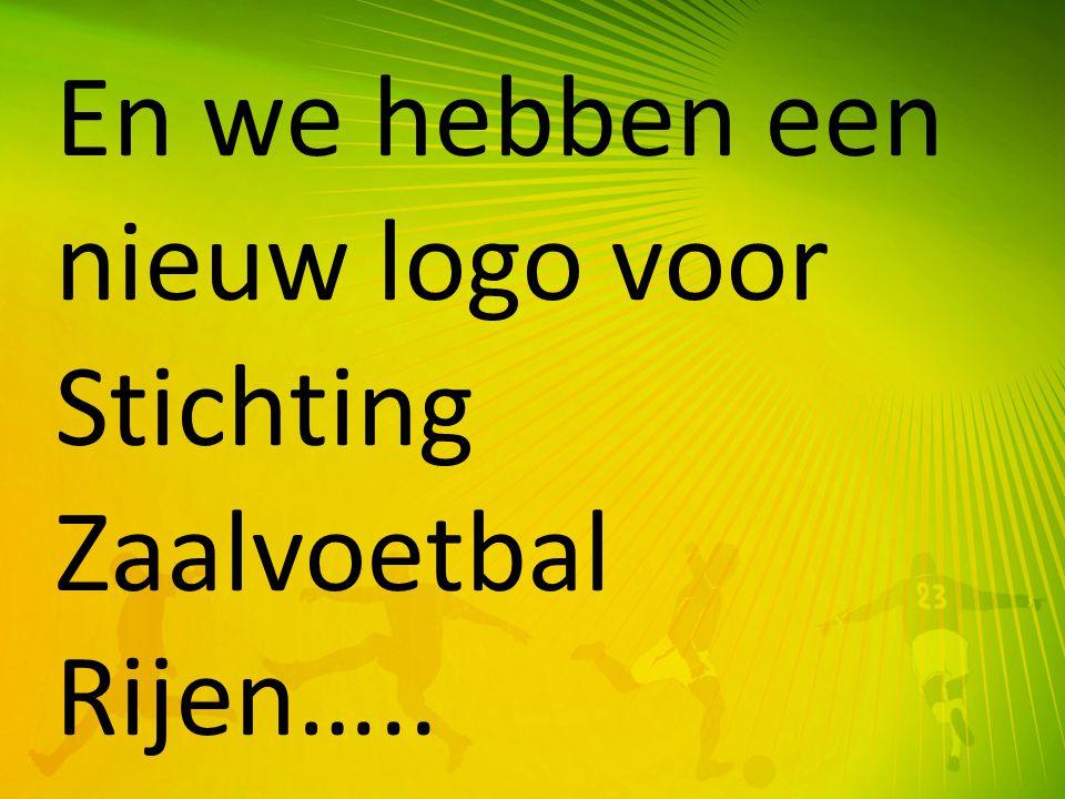 En we hebben een nieuw logo voor Stichting Zaalvoetbal Rijen…..
