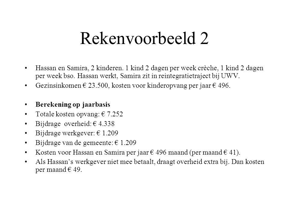 Rekenvoorbeeld 2