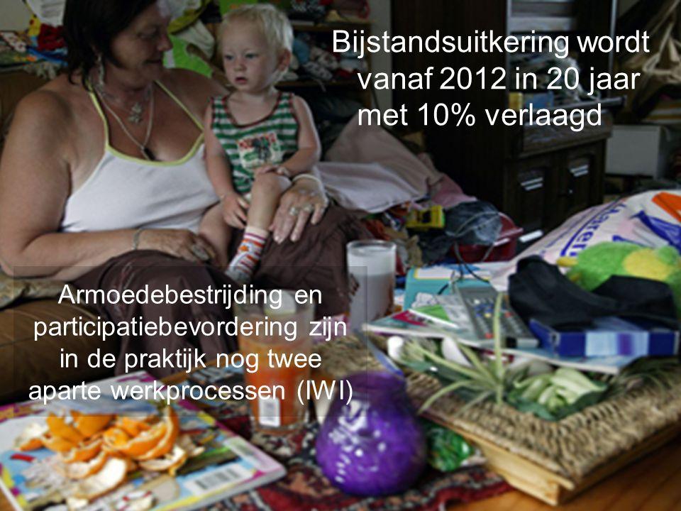Bijstandsuitkering wordt vanaf 2012 in 20 jaar met 10% verlaagd