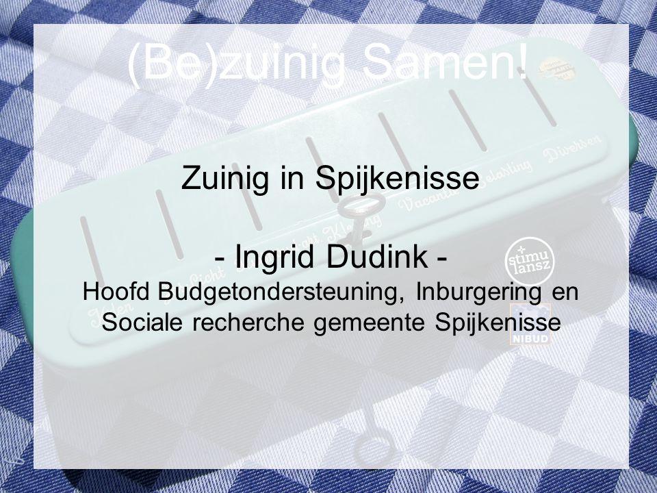 (Be)zuinig Samen! Zuinig in Spijkenisse - Ingrid Dudink -