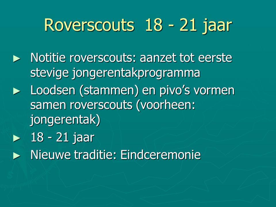 Roverscouts 18 - 21 jaar Notitie roverscouts: aanzet tot eerste stevige jongerentakprogramma.