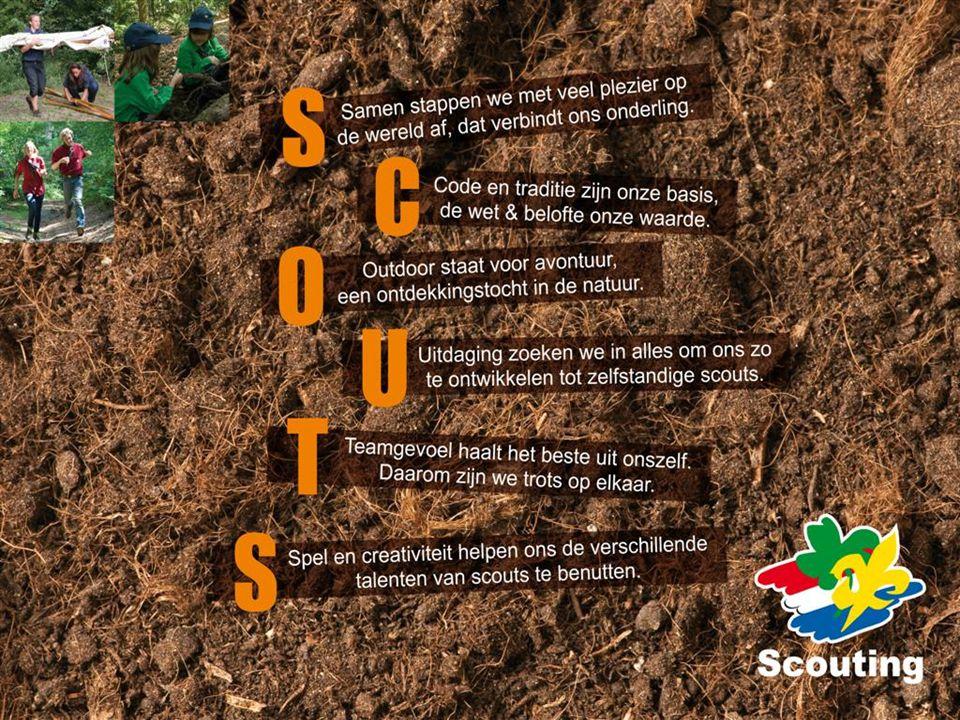 Spelvisie SCOUTS Waar is de projectgroep mee begonnen, met het formuleren van een visie op het spel. Verwoord in de spelvisie SCOUTS.