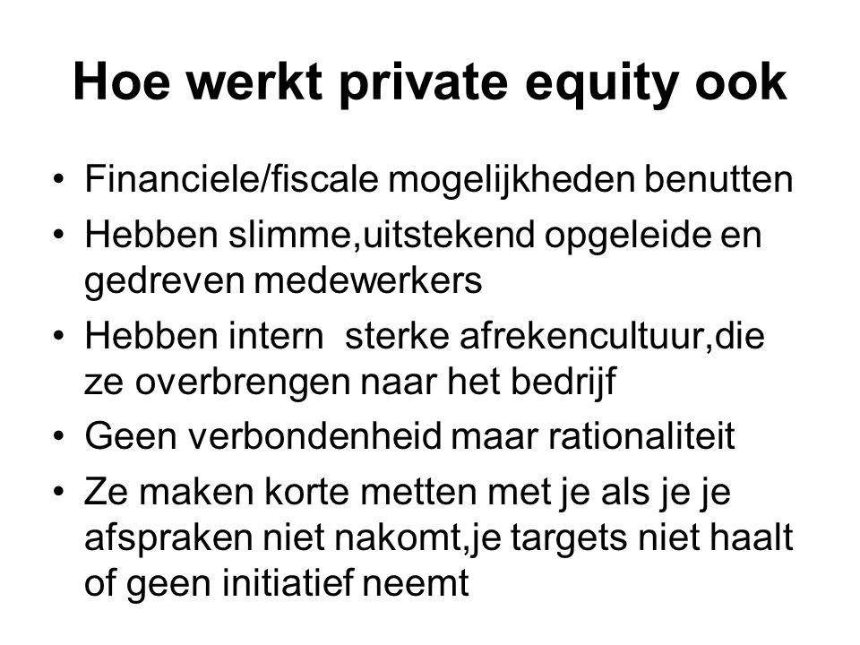Hoe werkt private equity ook