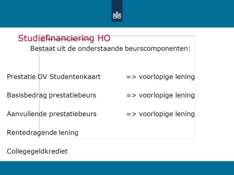 Studiefinanciering HO