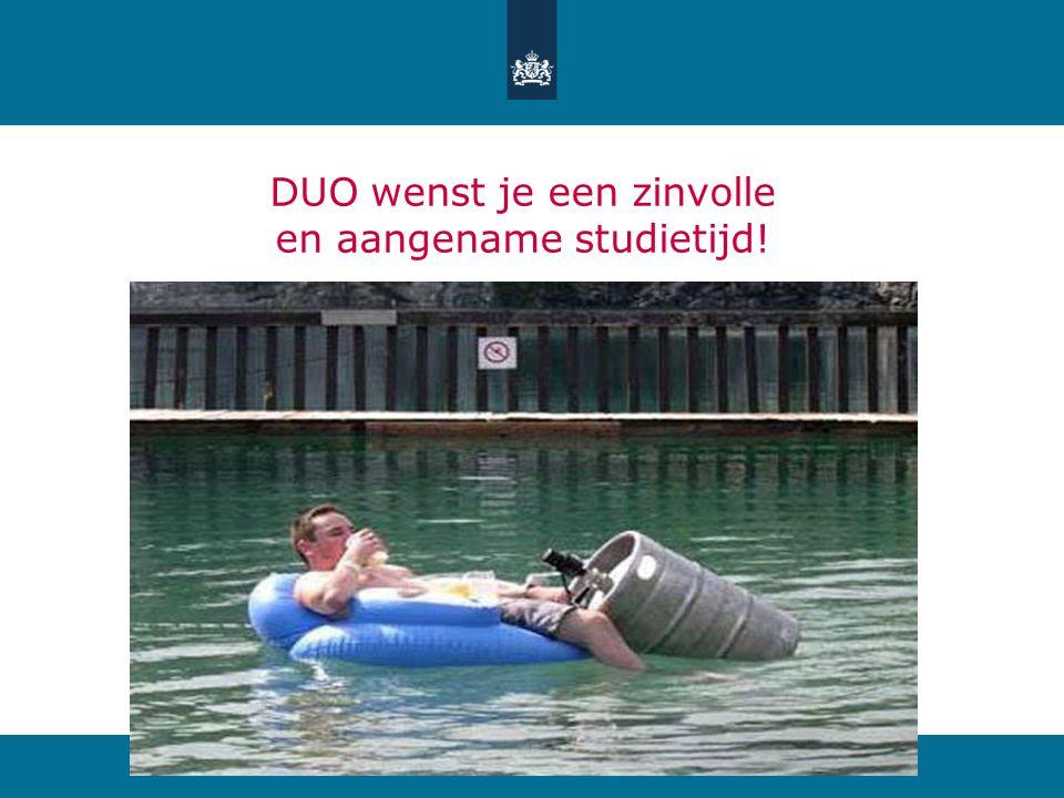 DUO wenst je een zinvolle en aangename studietijd!