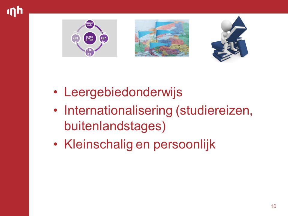 Internationalisering (studiereizen, buitenlandstages)