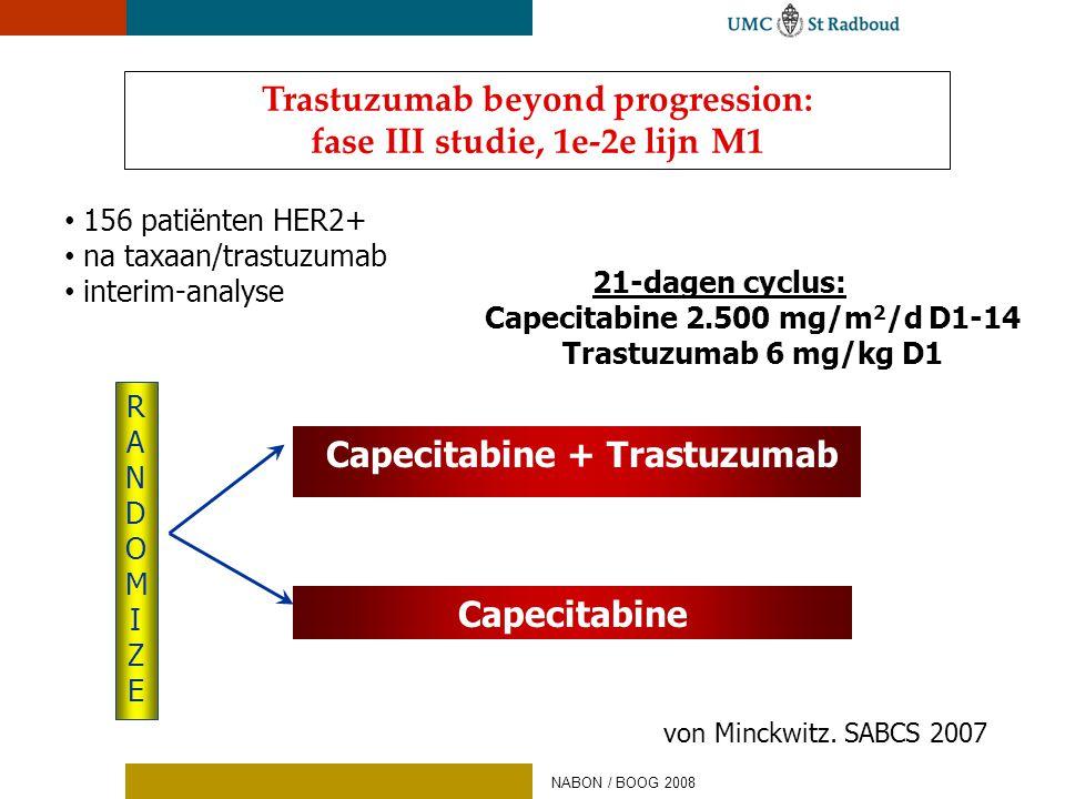 Trastuzumab beyond progression: fase III studie, 1e-2e lijn M1