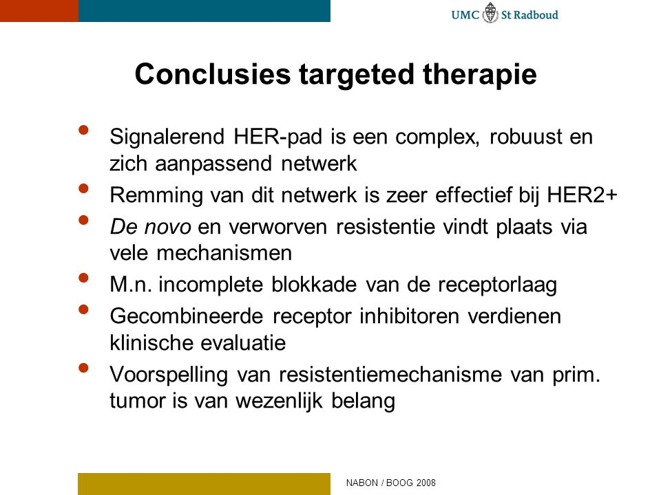 Conclusies targeted therapie