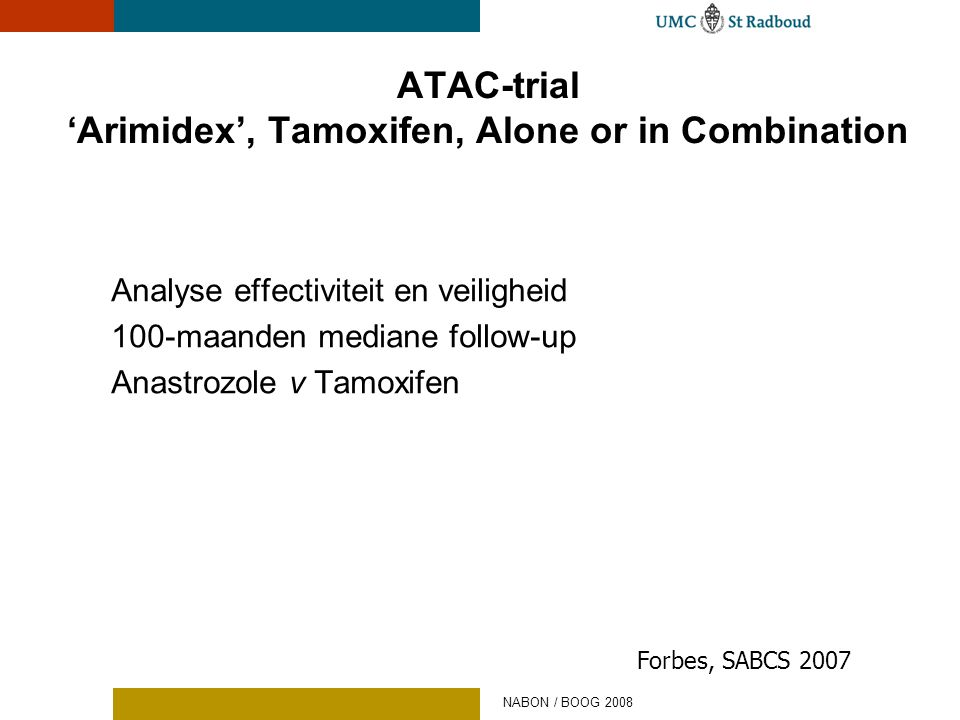 ATAC-trial 'Arimidex', Tamoxifen, Alone or in Combination