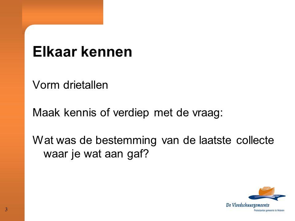 Elkaar kennen Vorm drietallen Maak kennis of verdiep met de vraag: