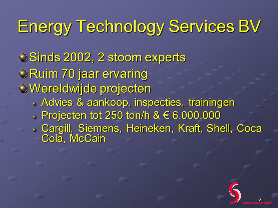 Energy Technology Services BV